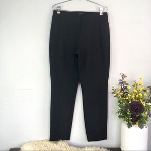 Lafayette 148 skinny leg black slacks career work
